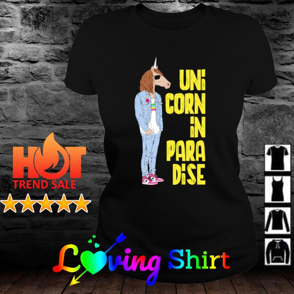 Unicorn in paradise s ladies-tee